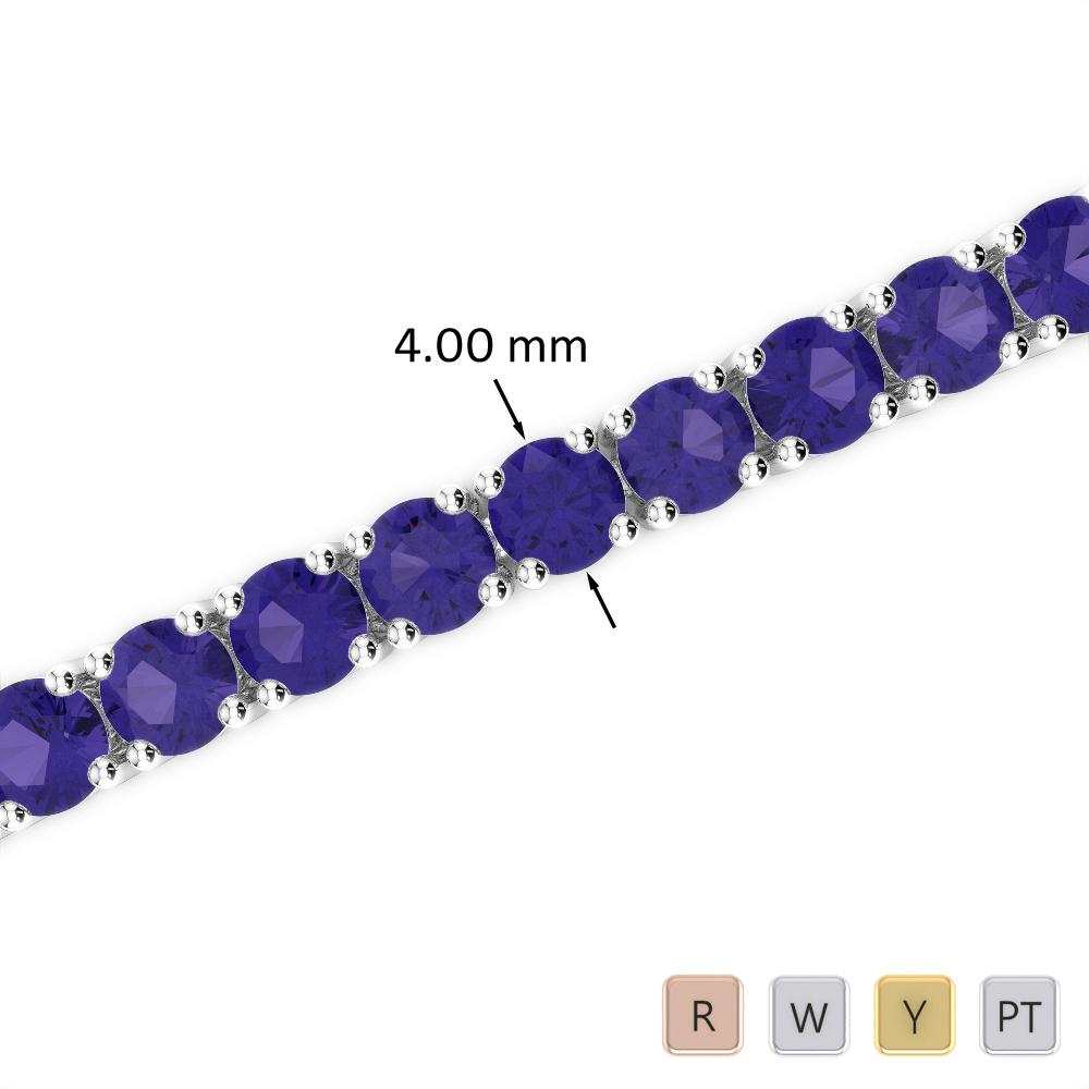16 Ct Tanzanite Bracelet in Gold/Platinum AGBRL-1011