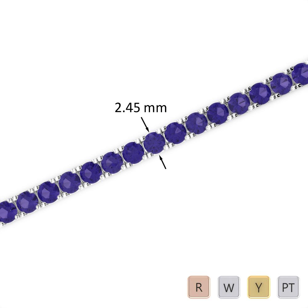 4 Ct Tanzanite Bracelet in Gold/Platinum AGBRL-1016