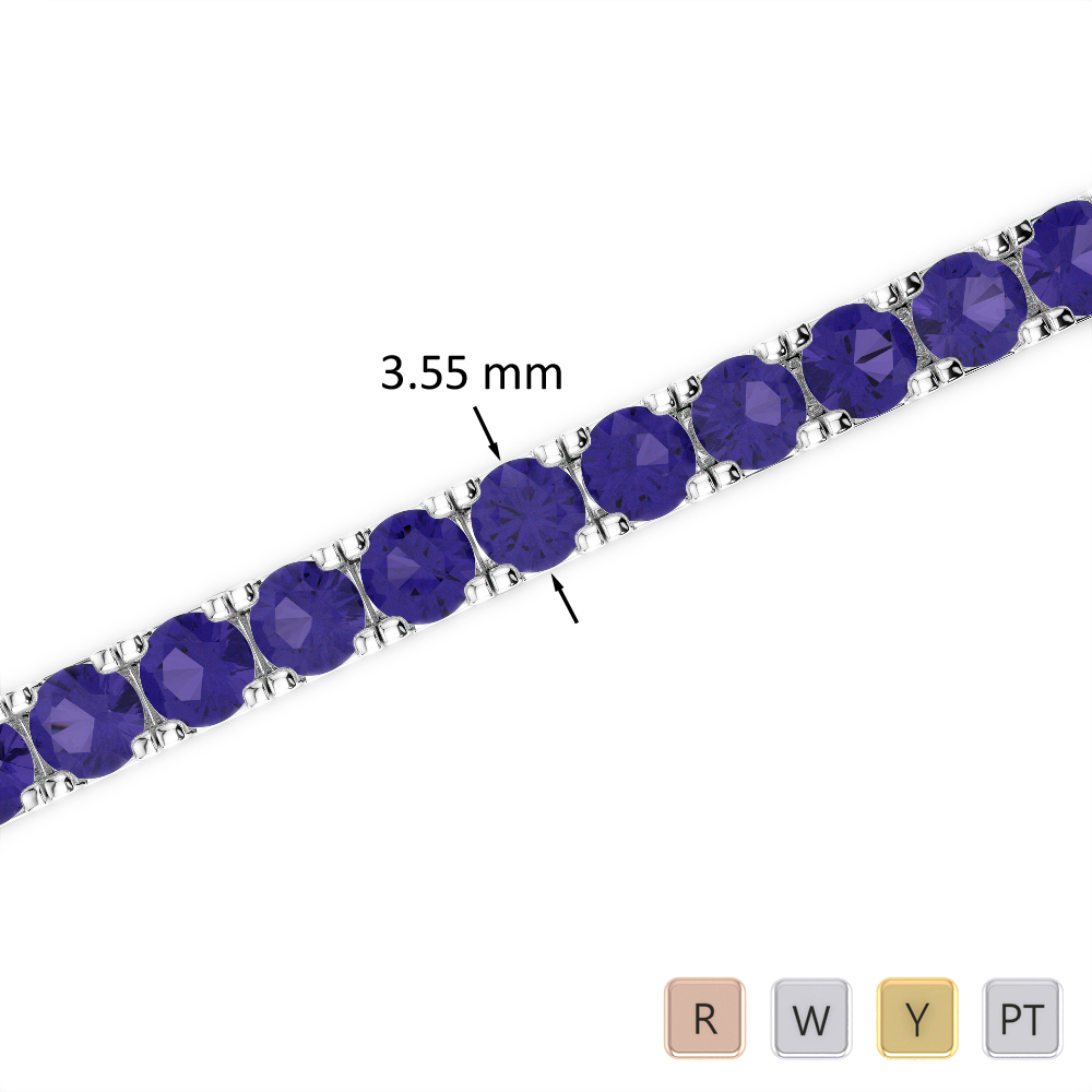 11 Ct Tanzanite Bracelet in Gold/Platinum AGBRL-1020