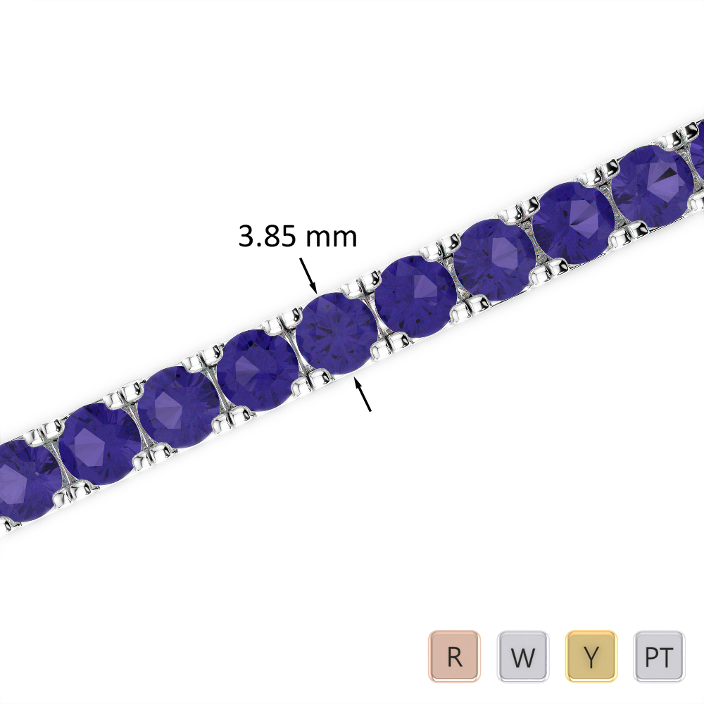 14 Ct Tanzanite Bracelet in Gold/Platinum AGBRL-1021