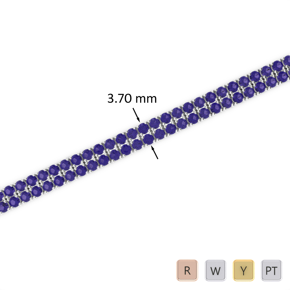 4 Ct Tanzanite Bracelet in Gold/Platinum AGBRL-1031