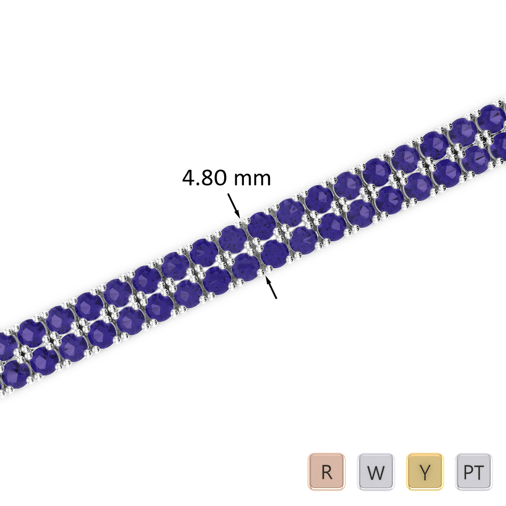 7 Ct Tanzanite Bracelet in Gold/Platinum AGBRL-1033