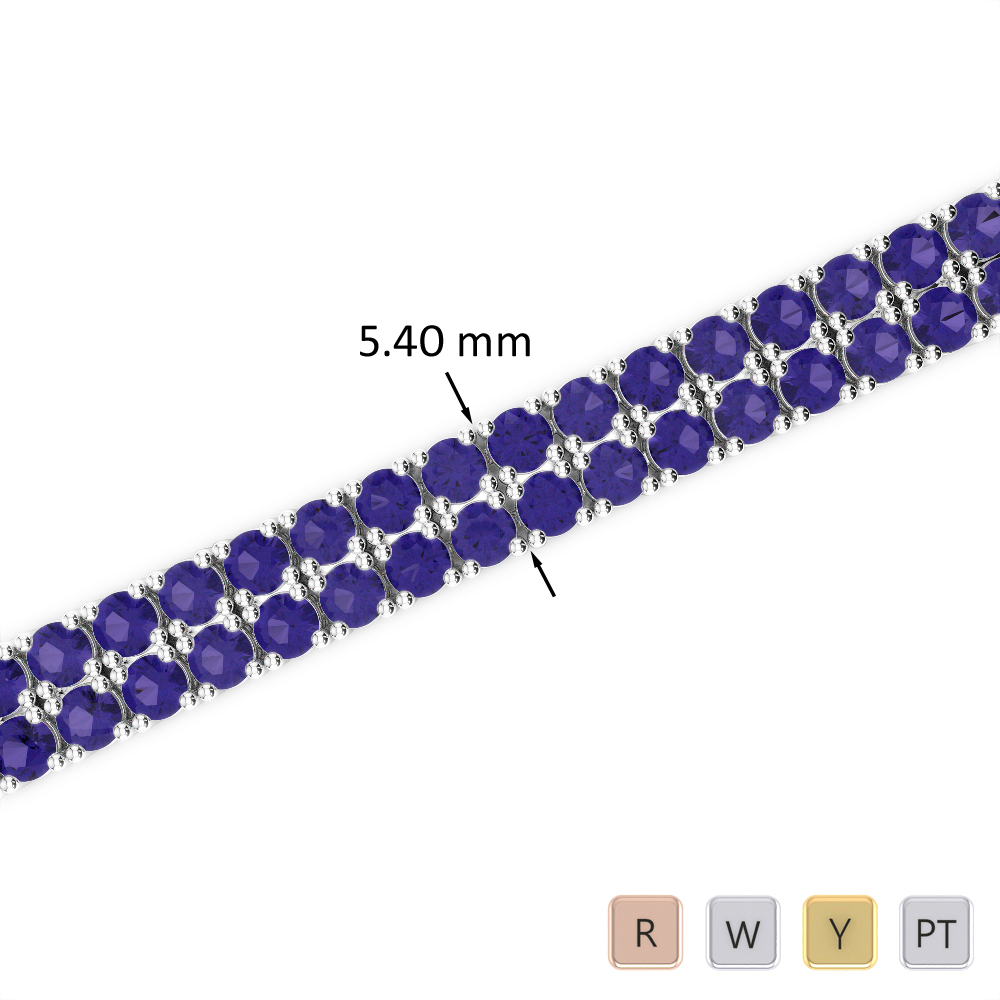 11 Ct Tanzanite Bracelet in Gold/Platinum AGBRL-1035