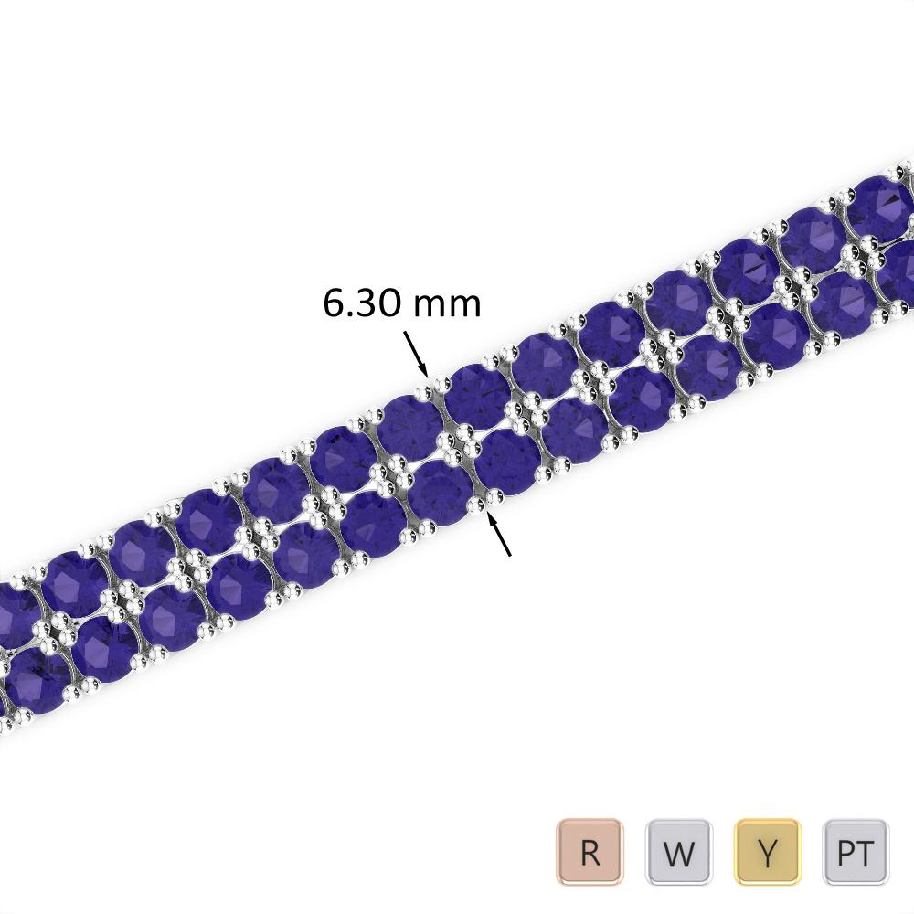 15 Ct Tanzanite Bracelet in Gold/Platinum AGBRL-1037
