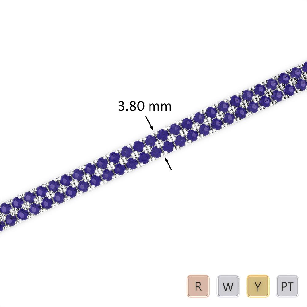 4 Ct Tanzanite Bracelet in Gold/Platinum AGBRL-1042