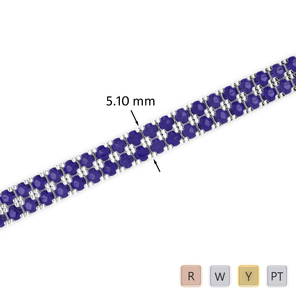 7 Ct Tanzanite Bracelet in Gold/Platinum AGBRL-1045