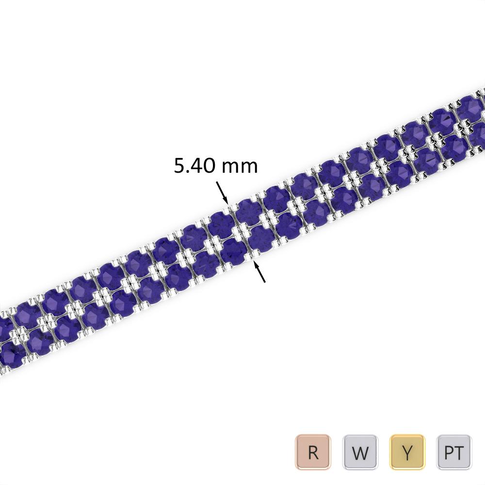 11 Ct Tanzanite Bracelet in Gold/Platinum AGBRL-1046