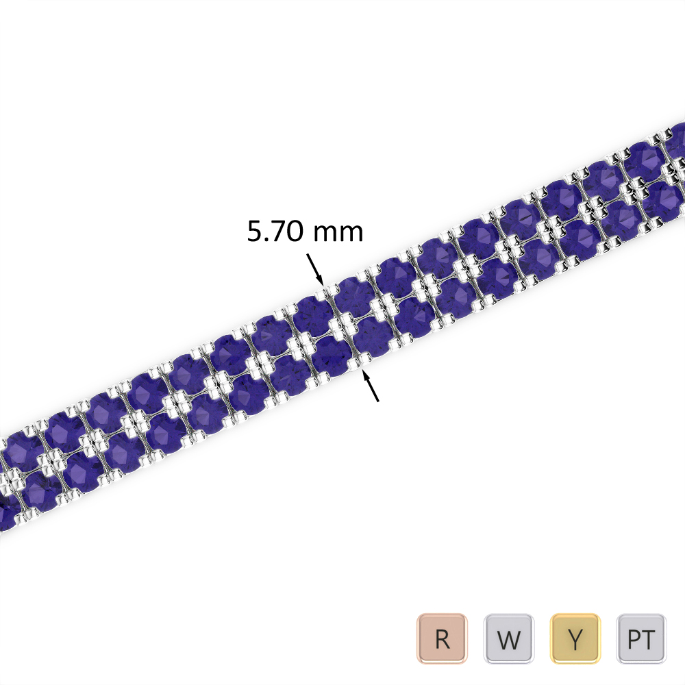 13 Ct Tanzanite Bracelet in Gold/Platinum AGBRL-1047