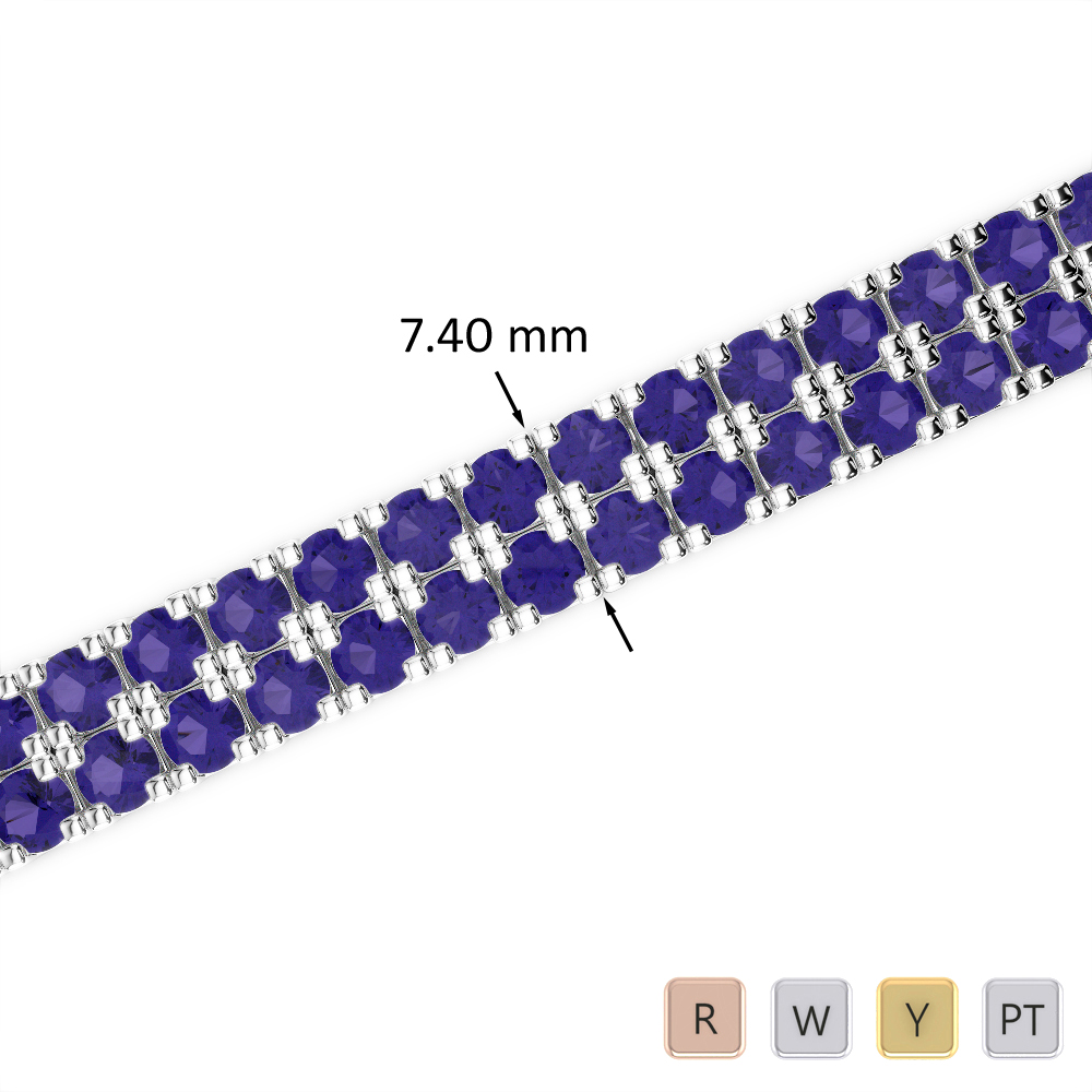20 Ct Tanzanite Bracelet in Gold/Platinum AGBRL-1049
