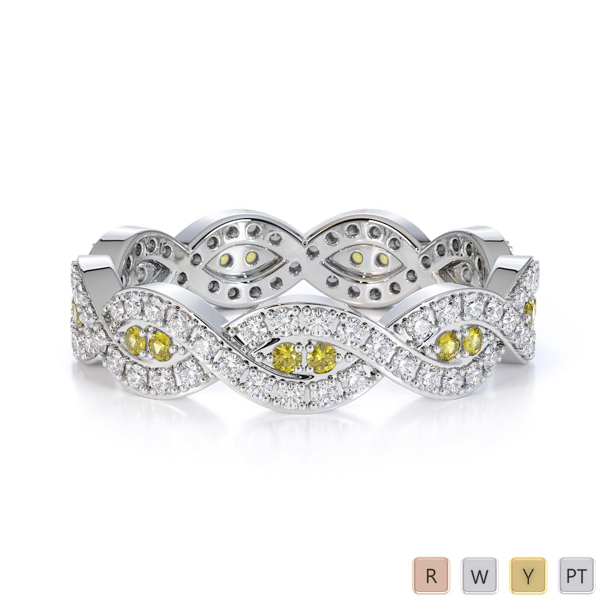 Gold / Platinum Yellow Sapphire and Diamond Full Eternity Ring RZ1498