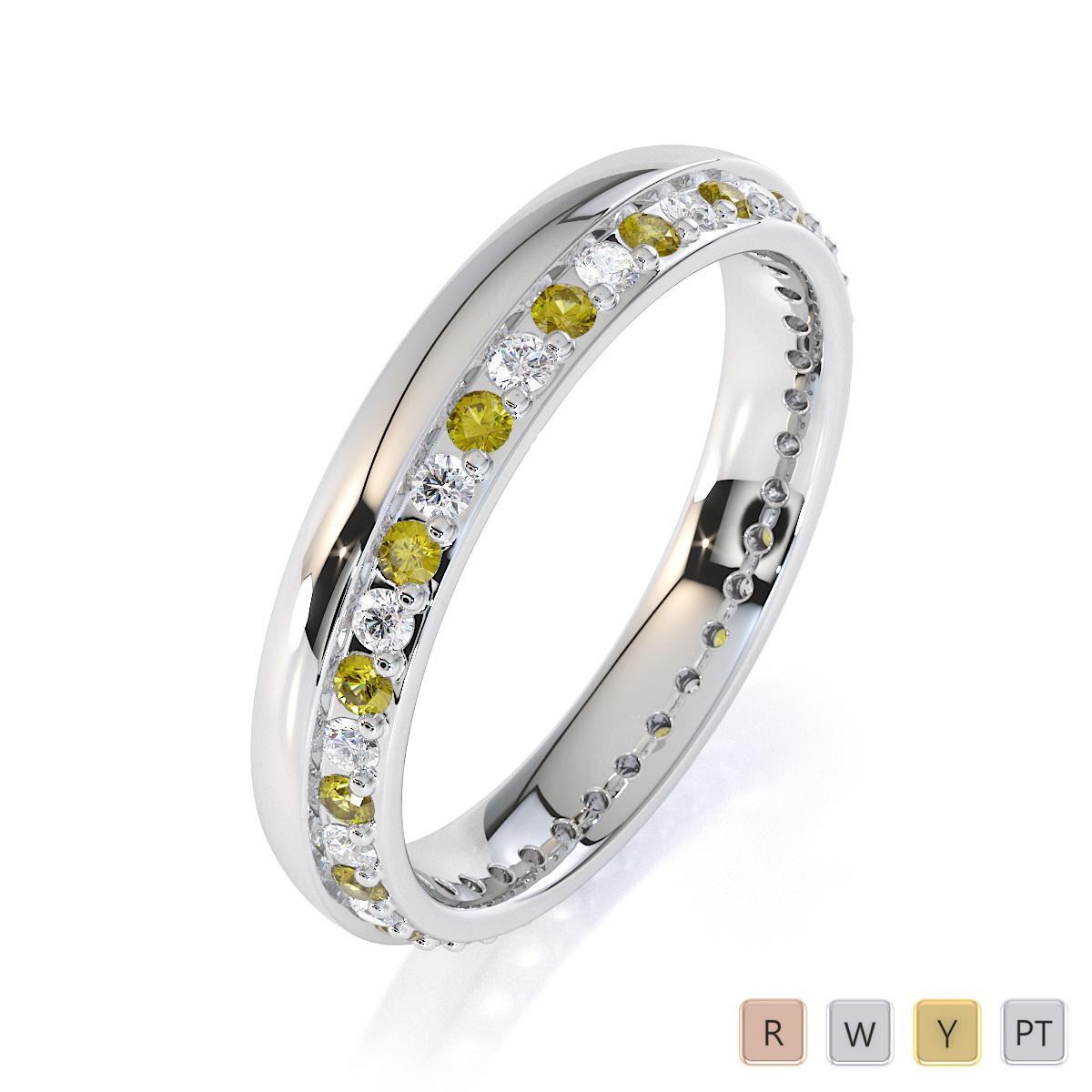 Gold / Platinum Yellow Sapphire and Diamond Full Eternity Ring RZ1516