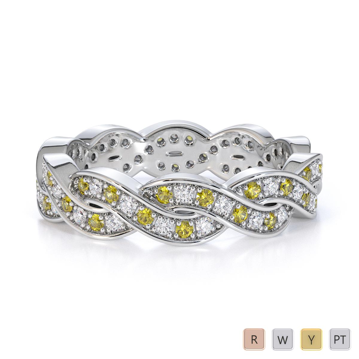 Gold / Platinum Yellow Sapphire and Diamond Full Eternity Ring RZ1520