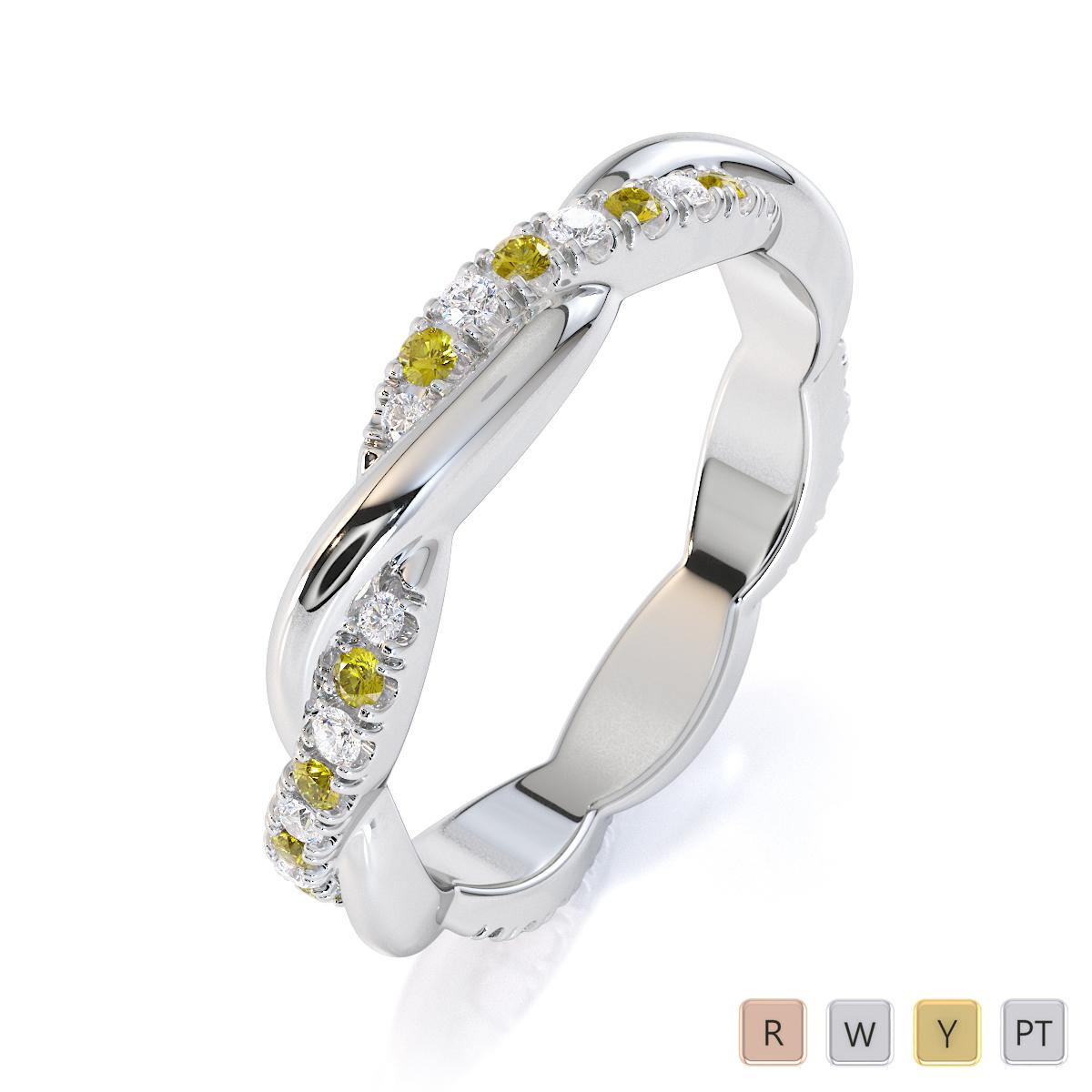 Gold / Platinum Yellow Sapphire and Diamond Full Eternity Ring RZ1522