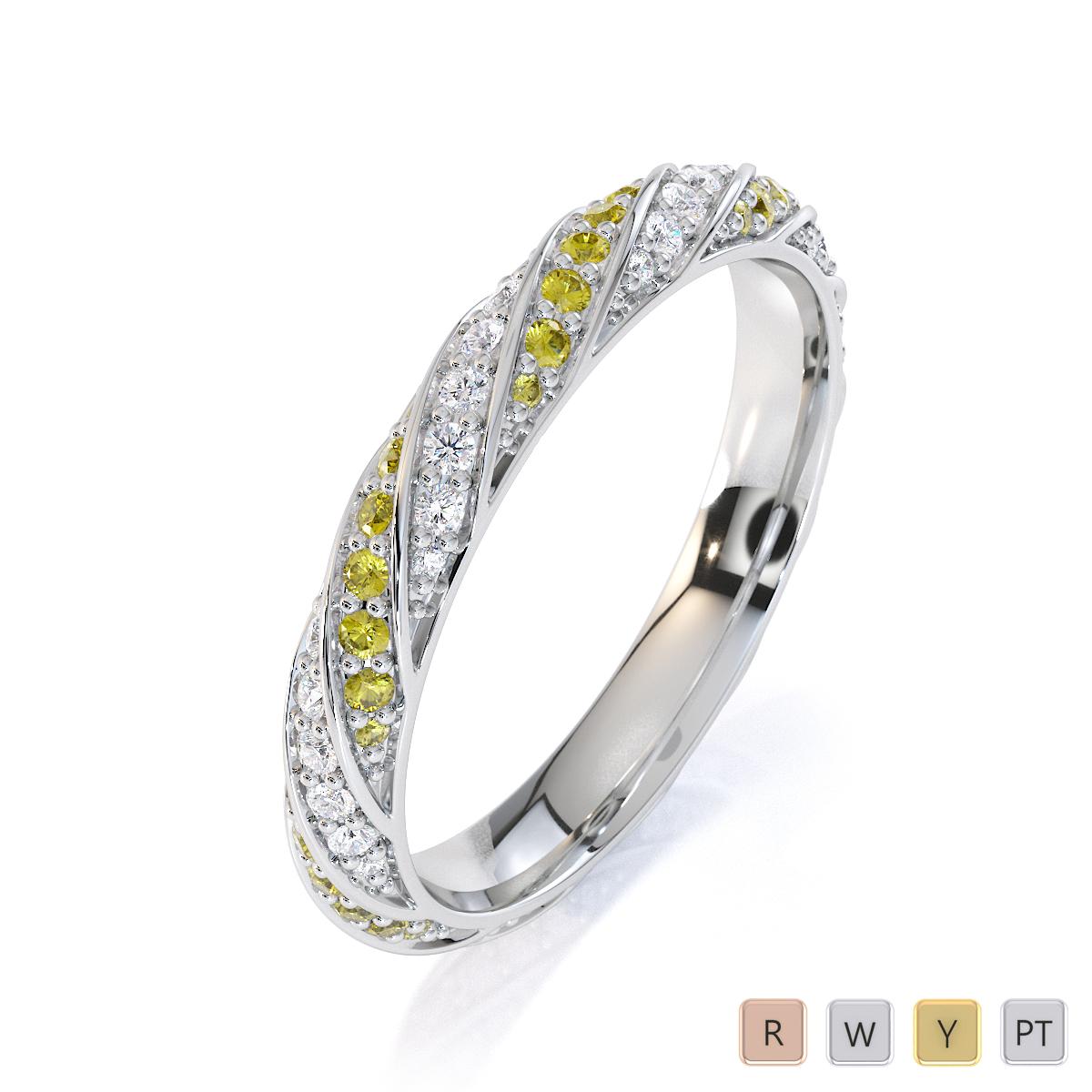 Gold / Platinum Yellow Sapphire and Diamond Full Eternity Ring RZ1528