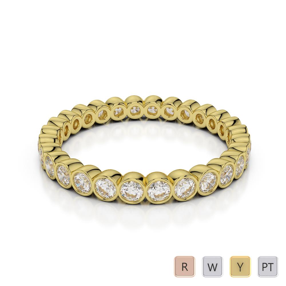 2.5 MM Gold / Platinum Diamond Full Eternity Ring AGDR-1099