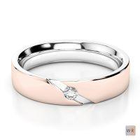White & Rose Gold Mens Fusion Diamond Wedding Ring AGDR-1289
