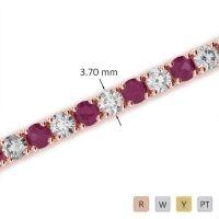 Gold / Platinum Diamond & Gemstone Bracelet AGBRL-1010