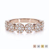 Gold / Platinum Diamond Half Eternity Ring RZ1531