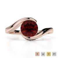 Gold / Platinum Diamond & Gemstone Engagement Ring AGDR-1209