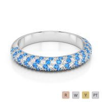 Gold / Platinum Diamond Half Eternity Ring AGDR-1118
