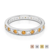 Gold / Platinum Diamond Full Eternity Ring AGDR-1079