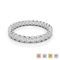 Gold / Platinum Diamond Full Eternity Ring AGDR-1099