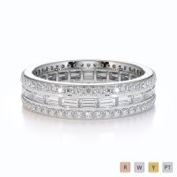 Gold / Platinum Diamond Full Eternity Ring RZ1508