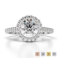 Gold / Platinum Diamond & Gemstone Engagement Ring AGDR-1215