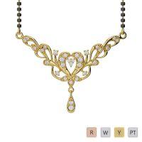 Gold / Platinum Diamond Mangalsutra Necklace IMS-482