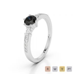 Gold / Platinum Diamond & Gemstone Engagement Ring AGDR-1177