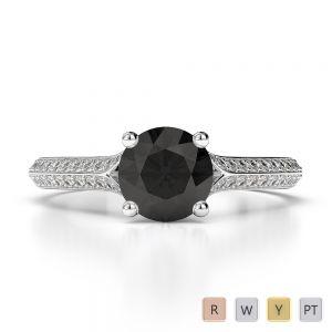 Gold / Platinum Diamond & Gemstone Engagement Ring AGDR-1200