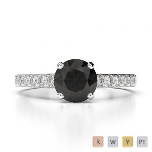 Gold / Platinum Diamond & Gemstone Engagement Ring AGDR-1201