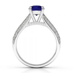 Gold / Platinum Diamond & Gemstone Engagement Ring AGDR-1203