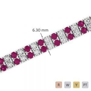 Gold / Platinum Diamond & Gemstone Bracelet AGBRL-1037