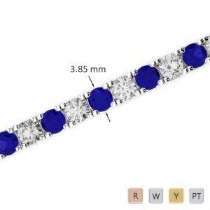 Gold / Platinum Diamond & Gemstone Bracelet AGBRL-1021