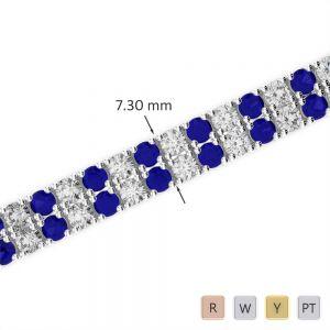 Gold / Platinum Diamond & Gemstone Bracelet AGBRL-1038
