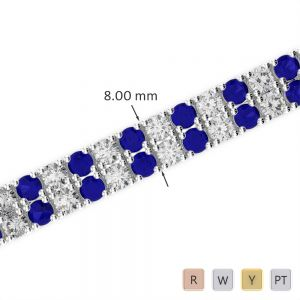 Gold / Platinum Diamond & Gemstone Bracelet AGBRL-1039