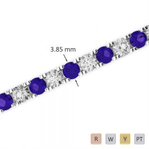 Gold / Platinum Diamond & Gemstone Bracelet AGBRL-1021