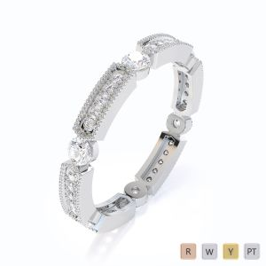 Gold / Platinum Diamond Full Eternity Ring RZ1500