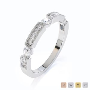 Gold / Platinum Diamond Half Eternity Ring RZ1501