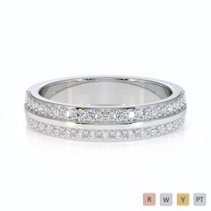 Gold / Platinum Diamond Half Eternity Ring RZ1505