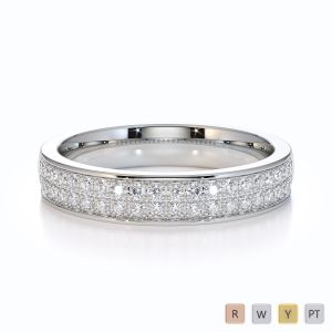 Gold / Platinum Diamond Half Eternity Ring RZ1507