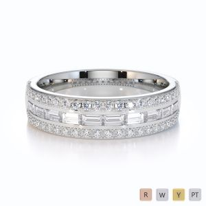 Gold / Platinum Diamond Half Eternity Ring RZ1509