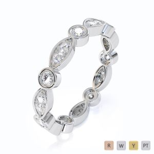 Gold / Platinum Diamond Full Eternity Ring RZ1510