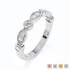 Gold / Platinum Diamond Half Eternity Ring RZ1511