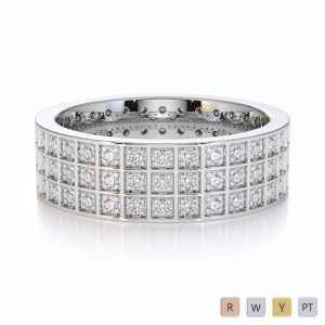 Gold / Platinum Diamond Full Eternity Ring RZ1512