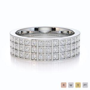 Gold / Platinum Diamond Half Eternity Ring RZ1513