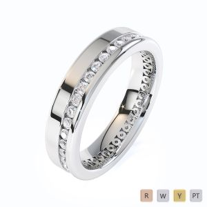 Gold / Platinum Diamond Full Eternity Ring RZ1514