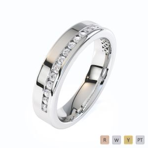 Gold / Platinum Diamond Half Eternity Ring RZ1515