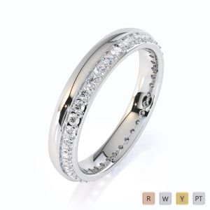 Gold / Platinum Diamond Full Eternity Ring RZ1516